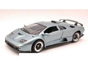 Motormax MTM73168SL LAMBORGHINI DIABLO GT 1999 SILVERBLUE 1:18 Modellino