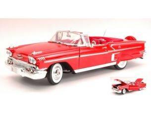 Motormax MTM73112R CHEVY IMPALA OPEN 1958 RED 1:18 Modellino