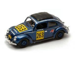 Rio RI4198 VW BEETLE N.263 79th (8th CLASS) CARRERA PANAMERICANA 1954 M.HINKE 1:43 Modellino