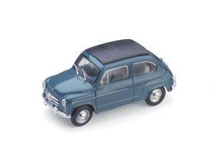 Brumm BM0318-09 FIAT 600D TRASFORMABILE CHIUSA 1960 BLEU 404 1:43 Modellino