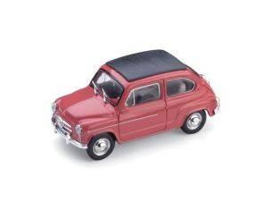 Brumm BM0318-11 FIAT 600D TRASFORMABILE CHIUSA 1960 ROSSO 135 1:43 Modellino