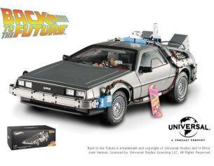 Hot Wheels HWBCJ97 DE LOREAN RITORNO AL FUTURO 2 WITH MR.FUSION + HOVER BOARD 1:18 Modellino