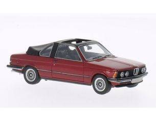 Neo Scale Models NEO43289 BMW E21 320 BAUR CONVERTIBLE 1979 MET.DARK RED 1:43 Modellino
