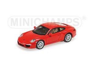 Minichamps PM877060220 PORSCHE 911 991 CARRERA S 2011 RED 1:87 Modellino