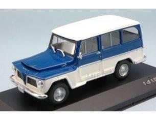 White Box WB092 WILLYS RURAL 1968 WHITE/BLUE 1:43 Modellino