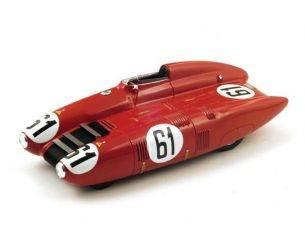 Bizzare BZ18B001 NARDI N.61 ACCIDENT LM 1955 M.DAMONTE-R.CROVETTO 1:18 Modellino