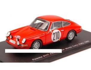 Spark Model S4021 PORSCHE 911T N.210 WINNER MONTE CARLO RALLY 1968 ELFORD-STONE 1:43 Modellino