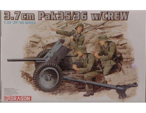 Dragon D6152 PAK 36 W/CREW KIT 1:35 Modellino