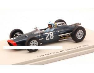 Spark Model S1814 LOLA MK4 J.SURTEES 1962 N.28 4th MONACO GP 1:43 Modellino