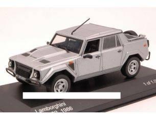 White Box WB105 LAMBORGHINI LM 002 1986 SILVER 1:43 Modellino