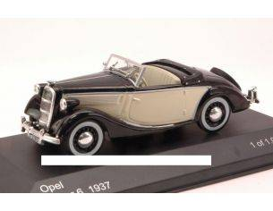 White Box WB104 OPEL SUPER 6 SPIDER 1937 BLACK/BEIGE 1:43 Modellino