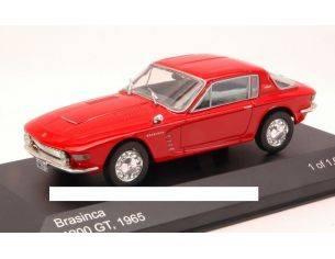 White Box WB102 BRASINCA 4200 GT COUPE' 1965 RED 1:43 Modellino