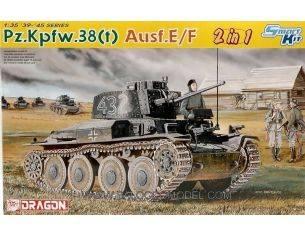 Dragon D6434 PZ.KPFW 38 AUSF.2/F KIT 1:35 Modellino