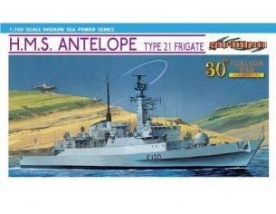 Dragon D7122 H.M.S. ANTELOPE TYPE 21 FRIGATE KIT 1:700 Modellino