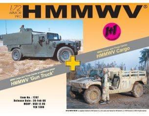 Dragon D7297 HMMWV M 998 CARGOTRUCK+GUN Modellino