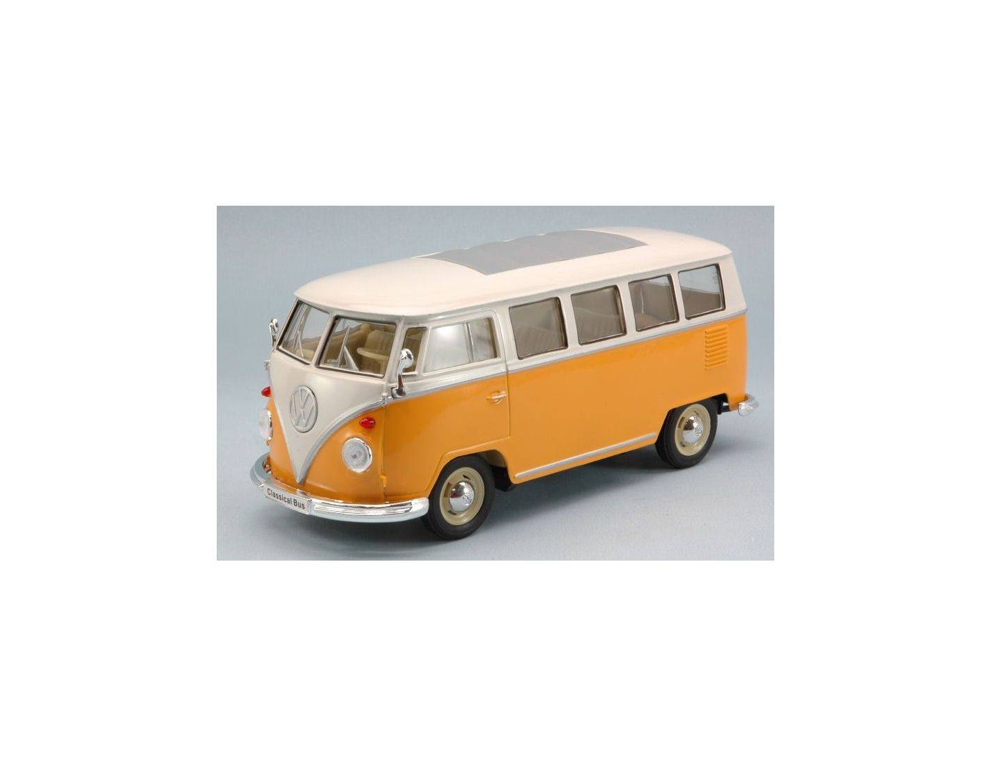 welly we2095 vw t1 bus 1963 orange cream 1 24 modellino. Black Bedroom Furniture Sets. Home Design Ideas