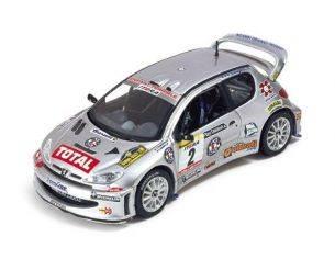Ixo model RAM097 PEUGEOT 206 WRC N.2 '02 1:43 Modellino