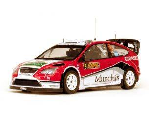 SunStar SS3949 FORD FOCUS N.9 4th RALLY ACROPOLIS 2009 F.VILLAGRA-J.DIAZ 1:18 Modellino
