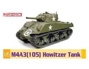 Dragon D75046 M4 A3 (105) HOWITZER TANK cm 96x44x46h KIT 1:6 Modellino