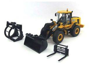 MotorArt MTR15823 JCB 456 WHEEL LOADER ZX WITH 3 ATTACHMENTS 1:50 Modellino
