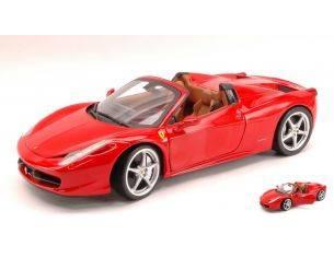 Hot Wheels HWX5527 FERRARI 458 ITALIA SPIDER 2009 RED FOUNDATION 1:18 Modellino