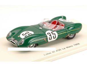 Spark Model S2184 LOTUS XI N.35 COLLISION WITH A DOG LM 1956 C.ALLISON-K.HALL 1:43 Modellino