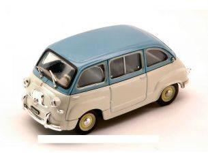 Brumm BM0250-07 FIAT 600 MULTIPLA 1^ SERIE 1956 AZZURRO CENERE/GRIGIO CHIARO 1:43 Modellino