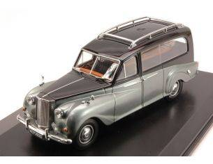 Oxford OXFAPH003 AUSTIN PRINCE HEARSE BLACK AND SILVER 1:43 Modellino