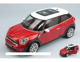 Welly WE0339 MINI COOPER S PACEMAN 2012 RED/WHITE 1:24 Modellino