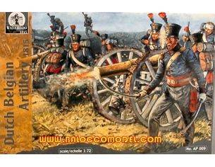 Waterloo AP009 DUTCH BELGIAN ARTILLERY 1815 1:72 Modellino