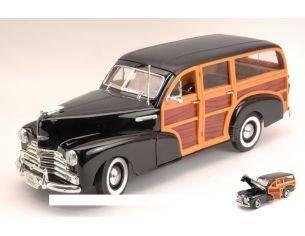Welly WE9848 CHEVROLET FLEETMASTER 1948 BLACK/WOODY 1:18 Modellino