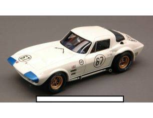 True Scale Miniatures TSM124322 CHEVROLET CORVETTE N.67 3rd 500 MIL.ROAD AMERICA HALL-PENSKE-SHARP 1:43 Modellino