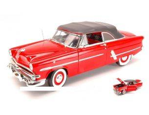 Welly WE0344 FORD CRESTLINE SUNLINER 1953 RED CANOPY 1:18 Modellino