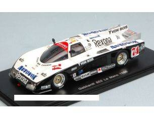 Spark Model S4096 GEBHARDT 853 N.74 ACCIDENT LM 1986 DICKENS-P.DE THOYSY-J-F YVON 1:43 Modellino