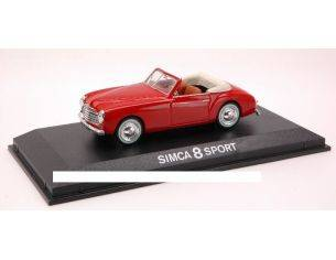 Norev NV570821 SIMCA 8 SPORT 1949 RED 1:43 Modellino
