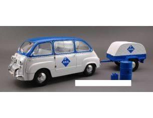 Miniminiera MMT74304 FIAT 600 MULTIPLA ARAL+CARRELLO 1:18 Modellino