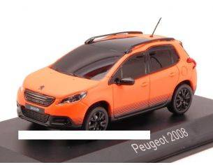 Norev NV479832 PEUGEOT 2008 2013 FLUORESCENT ORANGE MATT 1:43 Modellino