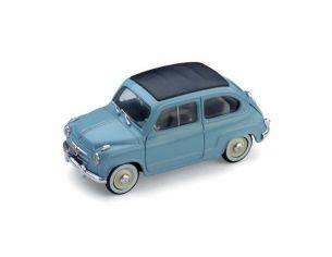 Brumm BM0249-04 FIAT 600 CONVERTIBILE CHIUSA 1956 AZZURRO CENERE 1:43 Modellino