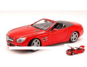 Welly WE18046C-RT MERCEDES SL500 (R231) CONVERTIBLE 2012 RED 1:18 Modellino