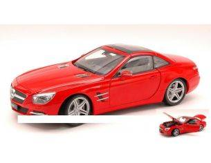 Welly WE18046H-RT MERCEDES SL500 (R231) HARD TOP 2012 RED 1:18 Modellino