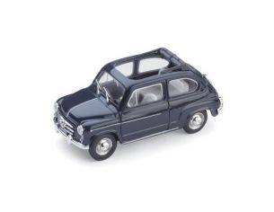 Brumm BM0317-10 FIAT 600 D BERLINA 1960 TRASFORMABILE APERTA BLEU SCURO 456 1:43 Modellino