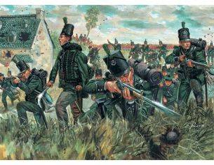 Italeri IT6083 WATERLOO 200 YEARS BRITISH 95TH REG.GREEN JACKET KIT 1:72 Modellino