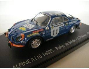 Eligor 101249 ALPINE A110 1600S RALLY DE SUEDE '73 Modellino