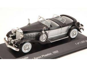 White Box WB114 CHRYSLER IMPERIAL LE BARON PHAETON 1933 SILVER/BLACK 1:43 Modellino