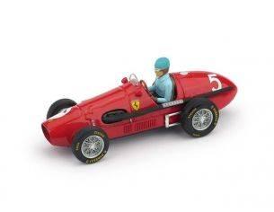 Brumm BM0044CH FERRARI 500F2 A.ASCARI 1953 N.5 WINNER BRITISH GP W/PILOTE 1:43 Modellino