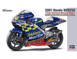 Hasegawa HGSBK2 HONDA NSR250 D.KATO 2001 N.74 WORLD CHAMPION 250cc KIT 1:12 Modellino