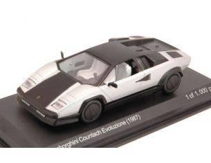 White Box WB512 LAMBORGHINI COUNTACH EVOLUZIONE 1987 SILVER/BLACK 1:43 Modellino