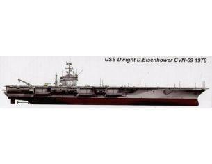 Trumpeter TP5753 NAVE USS D.EISENHOWER CVN-69 1978 KIT 1:700 Modellino