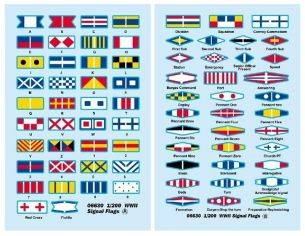 Trumpeter TP6630 SIGNAL FLAGS DECALS 1/200 Modellino