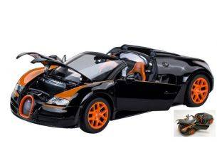 Ixo model RAT43900BO BUGATTI VEYRON 16.4 GRAND SPORT 2012 BLACK/ORANGE 1:18 Modellino